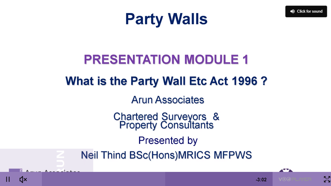 What is the Party Wall etc. Act 1996?
