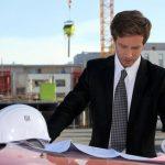 a property surveyor on site