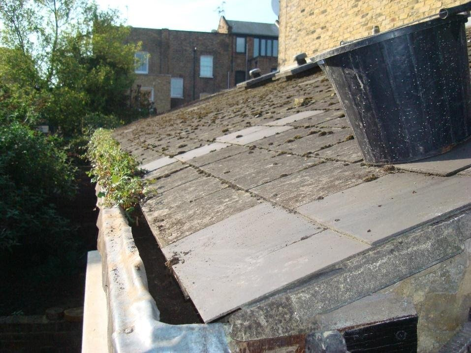 Rainwater overflow from blocked gutters can be a source for timber wet and dry rot outbreaks
